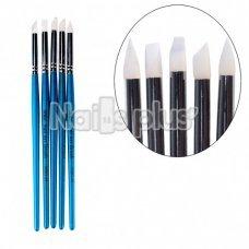 YRE набор силиконовых кистей изумруд ручка NSKG-04/D(5 шт.)