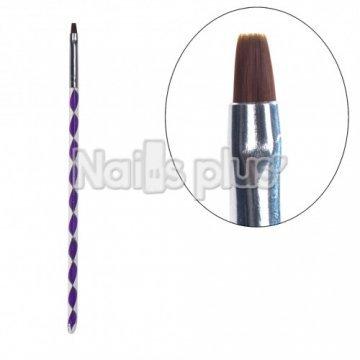 Кисть для геля фиолетовая YRE YKGK-04/s