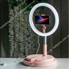 Лампа кольцевая на подставке Y2 29 см розовая (pink)