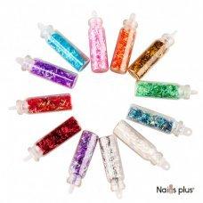 Набор для декора ногтей «стружка» (12 цветов)