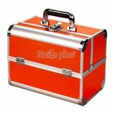 Чемодан для визажиста алюминиевый Matte Series, оранжевый