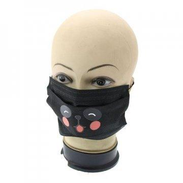 Медицинская маска для лица черная с рисунком 5 шт.