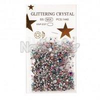 Глиттер кристаллы цветной хамелеон 1440 шт.