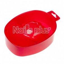 Ванночка для маникюра пластиковая красная