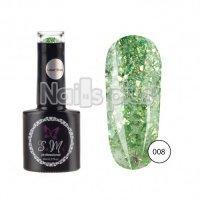 Гель-лак SaMi Laser Shine, Зеленый блеск, 8 мл, Laser-008