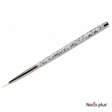 Кисть для дизайна тонкая с мраморной ручкой
