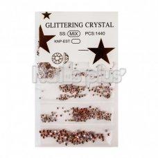 Глиттер кристаллы 1440 шт оранжевые