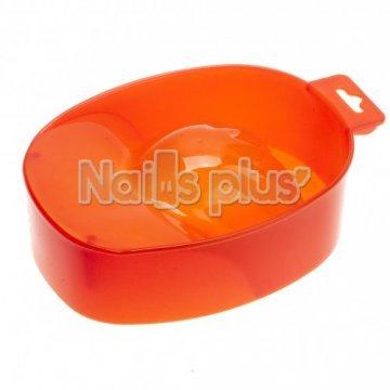 Ванночка для маникюра пластиковая оранжевая