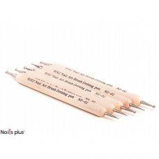 Дотс на деревянной ручке 5 штук (набор)