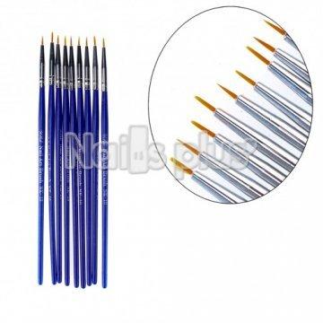YRE набор кистей для росписи ногтей NK-10 (9 шт.)