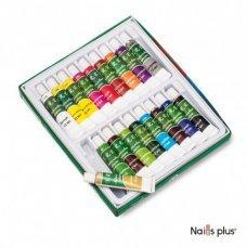 YRE набор акриловых красок в коробке (18 шт.х12 мл)