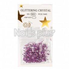 Глиттер кристаллы фиолетовый хамелеон 1440 шт