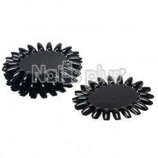 Палитра для лаков YRE ромашка 20 ногтей черная 1 шт