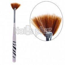 Кисть YRE Nail Art Brush VK 05, веерная, искусственный ворс
