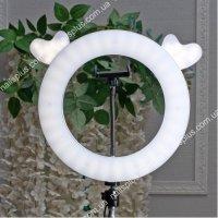 Лампа кольцевая круглая с ушками-сердцами 27см