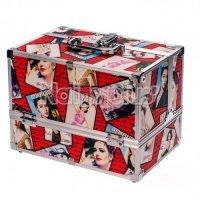 Алюминиевый кейс для косметики журнал RED