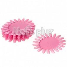 Палитра для лаков YRE ромашка 20 ногтей розовая 1 шт
