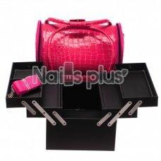 Бьюти Кейс для косметики, ярко розовый