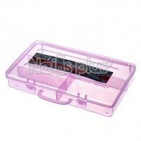 Бокс с дополнителными ячейками внутри, для хранения мелких деталей, 22,5 см * 13 см розовый