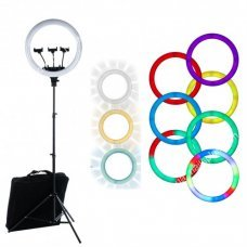 Лампа кольцевая RGB d18 (436 диодов) 45 см