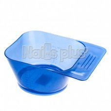 Миска YRE квадратная с ручкой - прозрачно- синий