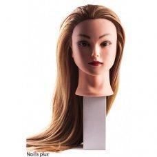 Учебная голова-манекен золотисто-русая 30% натуральных волос