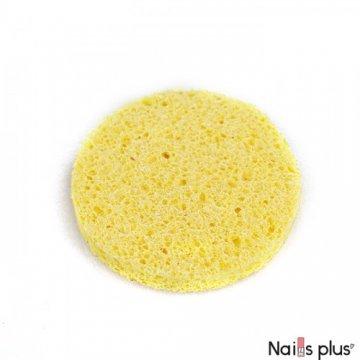 Спонж крупнопористый круг желтый