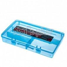 Бокс с дополнителными ячейками внутри, для хранения мелких деталей, 22,5 см * 13 см голубой