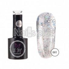 Гель-лак SaMi Laser Shine, Серебро битое стекло, 8 мл, Laser-001