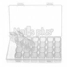Контейнер со съемными ячейками с крышками 28 секций