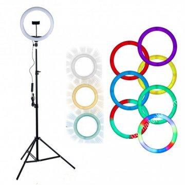 Лампа кольцевая RGB d10 (170 диодов) 25 см