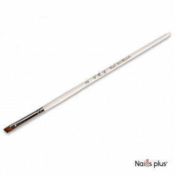Кисть для геля или для китайской росписи №2 синтетика скошенная (прозрачная ручка) YRE