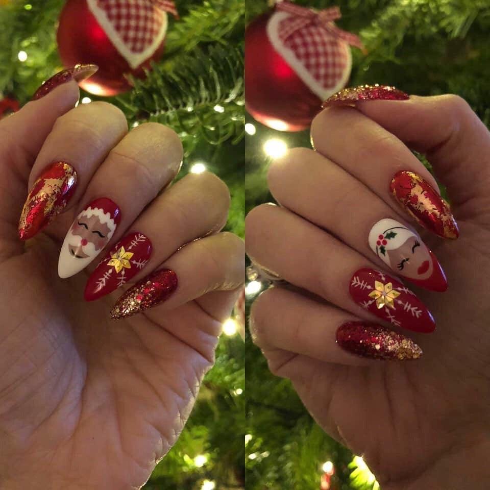 10 идей для зимнего праздничного дизайна ногтей >>> Блог о модных ...
